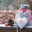 Bag and heart - Stockfoto