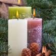 Three candles — Stock Photo #19004415