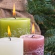 Three candles — Stock Photo #19004513