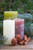 Tre candele — Foto Stock