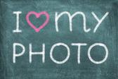 I love my photo — Stock Photo
