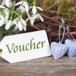 Voucher — Stock Photo