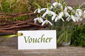 Voucher — Foto de Stock