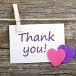 Thank you - Stockfoto