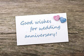 Wedding anniversary — Stock Photo