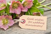 Wedding anniversary — Stock Photo