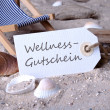 Stock Photo: Wellness coupon