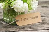 Invitation — Stock Photo