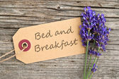 Bed and breakfast — Stockfoto