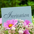 Stock Photo: Invitation