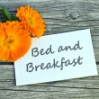 Bed and Breakfast — Stock Photo