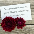 Ruby wedding anniversary — Stock Photo