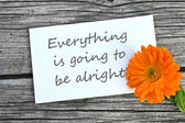 Be alright — Stock Photo