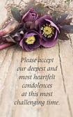 Condolence card — Stock Photo