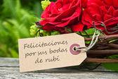 Ruby Wedding Anniversary — Stock Photo