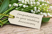 Wedding Anniversary card — Stock Photo