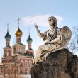 On the territory of the Novodevichy convent - Stock Photo