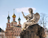 On the territory of the Novodevichy convent — Stock Photo