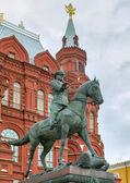 Pomnik marszałka żukowa, gk w moskwie — Zdjęcie stockowe