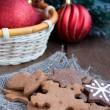 Christmas gingerbread with Christmas Tree decoration — Stock Photo #18365719