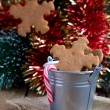 Snowflake shape gingerbread Cookies on the — Stock Photo #18365731