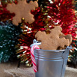 Stock Photo: Snowflake shape gingerbread Cookies on the