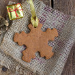 Snowflake shape gingerbread cookie — Stock Photo #18365755