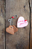 Heart shape Saint Valentine — Stock Photo