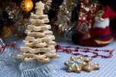 Christmas gingerbread tree — Stock Photo