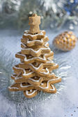 Christmas gingerbread tree — Stock Photo