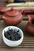 Traditional chinese tea ceremony accessories — Stock Photo