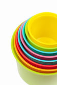 Multicolored shape sorter toy isolated — Stock Photo