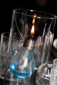 A candle made ​​of light bulb — Stockfoto