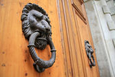Lion Head Door Knocker — 图库照片