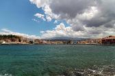 Ansicht des alten hafens. chania, kreta — Stockfoto