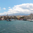 View of old port. City and Sea. Chania, Crete - Stock Photo
