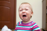 Portrait of crying baby girl — Stock Photo