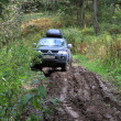 Stock Photo: Off-road Action in forest, 4x4, mud and vehicle