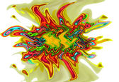 Art psychedelic multicolored background pattern — Stock Photo