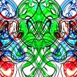Stock Photo: Art nouveau symmetry and abstract colorful pattern