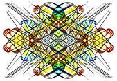 Art nouveau graphic varicolored pattern — Stock Photo