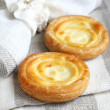 Russian sweet cheese danish — Stock Photo