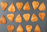 Homemade heart shaped cookies with a sugar crust — Stock Photo
