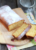 Homemade Moist bread with the addition of almond flour — Stock Photo
