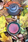 Geleneksel Çince çay töreni (çaydanlık ve bardak) — Stok fotoğraf
