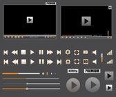 Custom Media Player Kit — Stock Vector