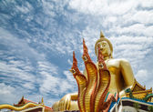 Naga in tempel — Stockfoto