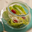 Mixed Salad in a glass — Stock Photo