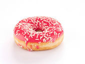Pink Donut against — Stock Photo