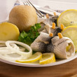 Stock Photo: Fish roll with rollmop herring